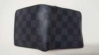 大平賣 100% real Louis Vuitton mens wallet 男LV 黑色 銀包