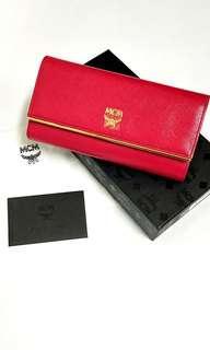 MCM Long Wallet Dark Fuschia