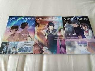 Your name/Kimi no nawa manga set