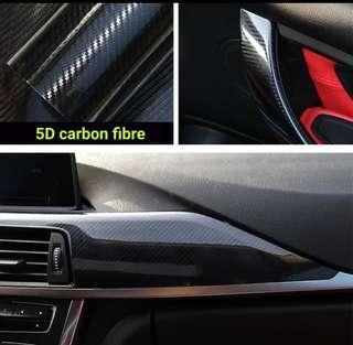 5D carbon fibre vinyl wrap sticker