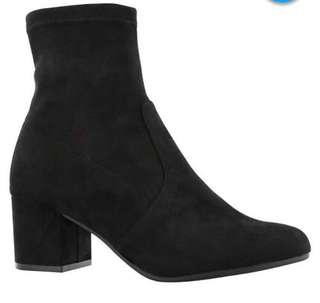 Steve Madden Black Suede Sock Boots in size 10