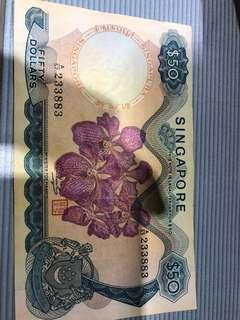 $50 orchid old notes