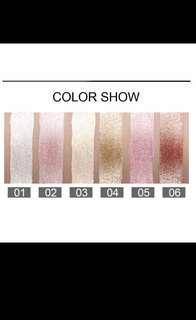 Colourshow Mettalic Eyeshadow, Lipstick, Eyeliner
