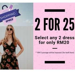 2 DRESS FOR RM25 (including postage)