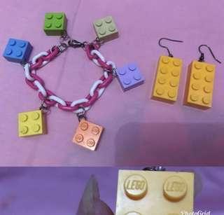 Gelang lego+anting