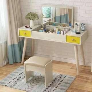 Modern Type Vanity Table and Storage with Chair
