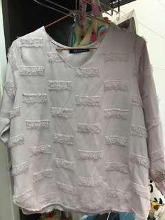 🚚 粉紅雪紡上衣