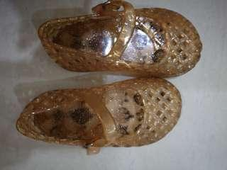 Gold Jelly shoes