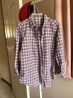 Uniqlo Plaid Top