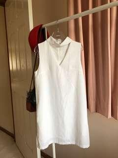 White Closet White Choker Dress