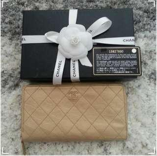 Chanel Calfskin Zipped Wallet (BNIB)
