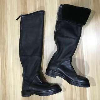 真品 Sergio Rossi 意大利製 過膝皮靴 Women Leather Boot 連卡佛 lane crawford