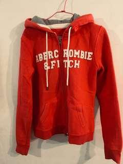 🚚 Abercrombie基本款女西瓜紅連帽外套