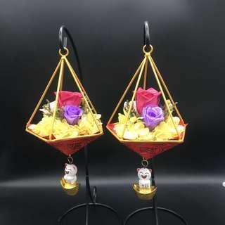 Chinese New Year flowery lantern 富贵花开,年年有余