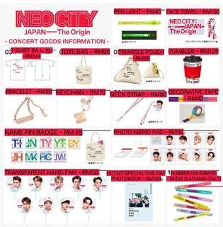 #NCT127 Neo City: Japan - The Origin official goods