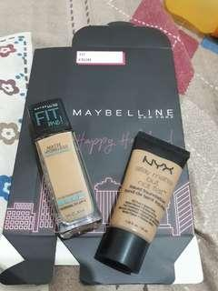 Bundle MAYBELLINE FIT ME and NYX matte but not flat