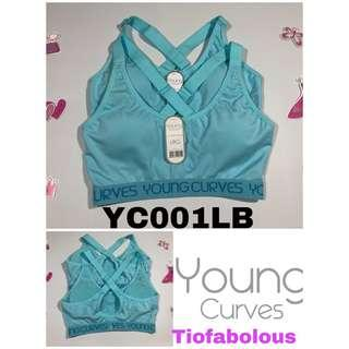 Young Curves Sport Bra YC001LB Size L
