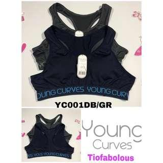 Young Curves Sport Bra YC001DB/GY Size L