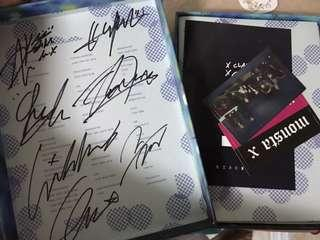 Handsigned monsta x signed the clan album unsealed all members including album contents