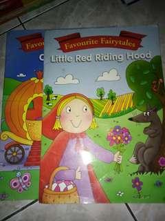Storybook set of 2 cinderella & little red