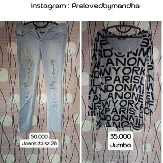 Turun harga preloved jeans / dress