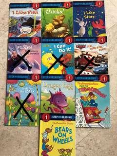 Step Into Reading Level 1 Books (assorted titles)