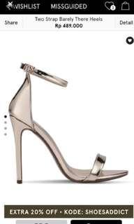 missguided zalora gold strap heels