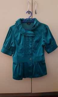 (SALE) Turquoise Working Blouse