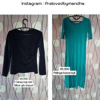 Turun harga preloved blouse / longdress slit