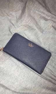 Kate Spade Cameron St Lacey Continental wallet Navy