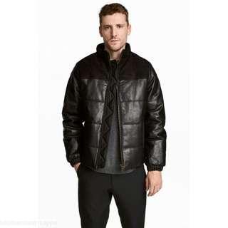 🚚 H&M真皮鋪棉厚外套,全新約M~L號,高端系列