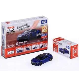 Tomica 4D 03 Honda NSX Blue