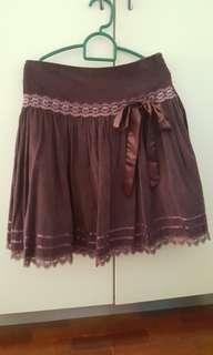 (SALE) Maroon Lace Skirt