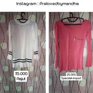 Turun harga preloved blouse / dress