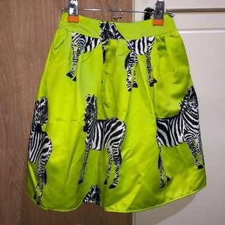 Zebra printted skirt