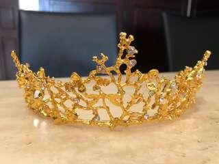 Wedding / Party Tiara Head Crown Golden Color