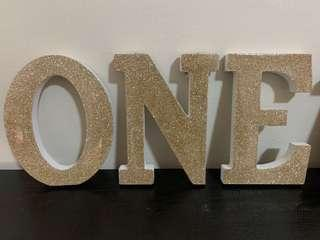Typo Letters - Golden ONE