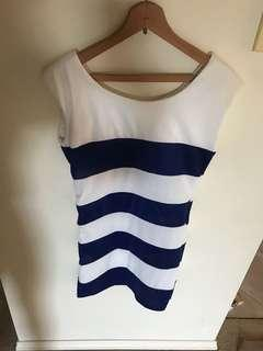 Womens Stripped Dress - Worn Once