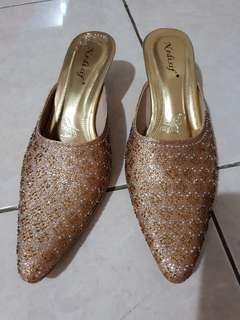 Sandal selop sepatu heel