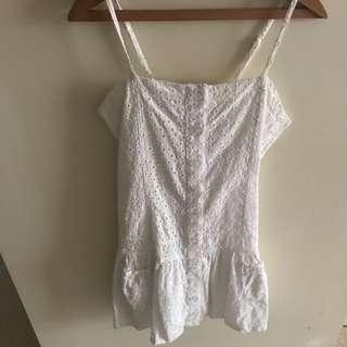 BNWOT Girls White Dress - Size 12