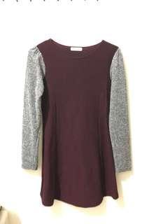 🚚 酒紅修身洋裝❤️貴氣又修身#一百均價