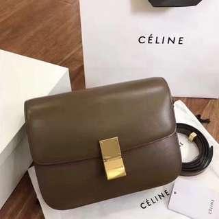 Brand New CÉLINE Old Logo Box in Camel RRP $5400