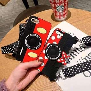 Mickey Mouse Silicon Case with Free Long Strap