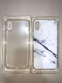 iPhone X/Xs Marble and Clear case
