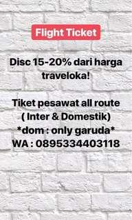 Tiket pesawat discount all route