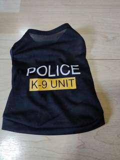 K9 Police Shirt for Puppies. 3 to 7 months French Bulldog size.