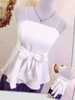 White Cami Peplum Top