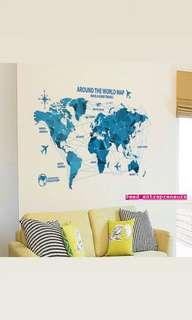 DIY Home Deco Removable wall stickers map