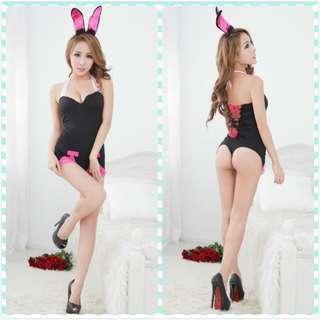 Muimui [ Ready Stock ] Woman Bunny Wear Rabbit Uniform Black MGG62