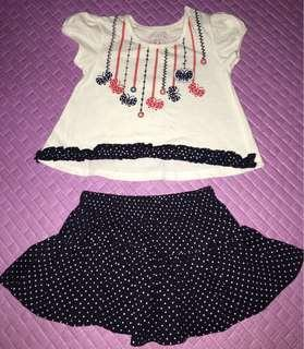 Hush Hush Blouse and Skirt